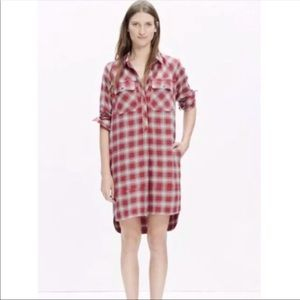 Madewell Flannel Dress